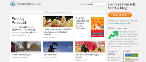 Blogga med Wordpress